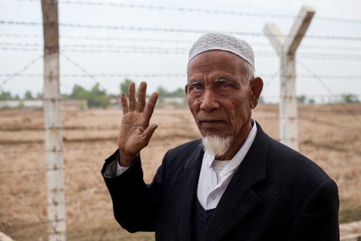 Rohingya man at the camps outside of Sittwe, Myanmar