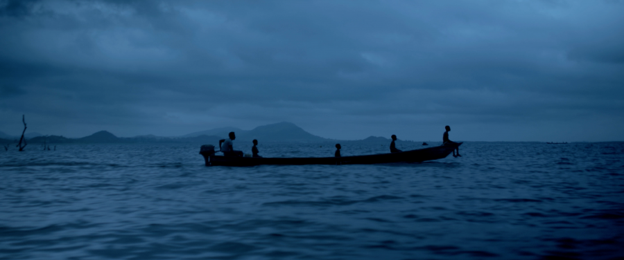 Children in the fishing industry on a boat on Lake Volta, Ghana